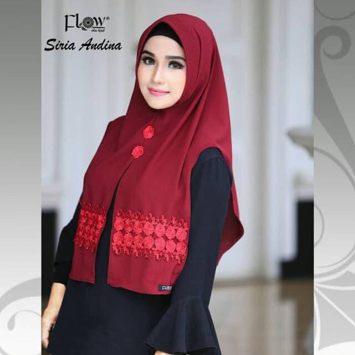 FLOW MINI KHIMAR ANDINA Pusat Grosir Jilbab Instan Pesta Modis Murah Berkualitas Jilbab Instan Pasmina Instant