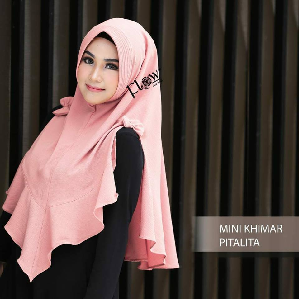 GROSIR Jilbab Instant Mini Khimar Pitalita By Flow Idea