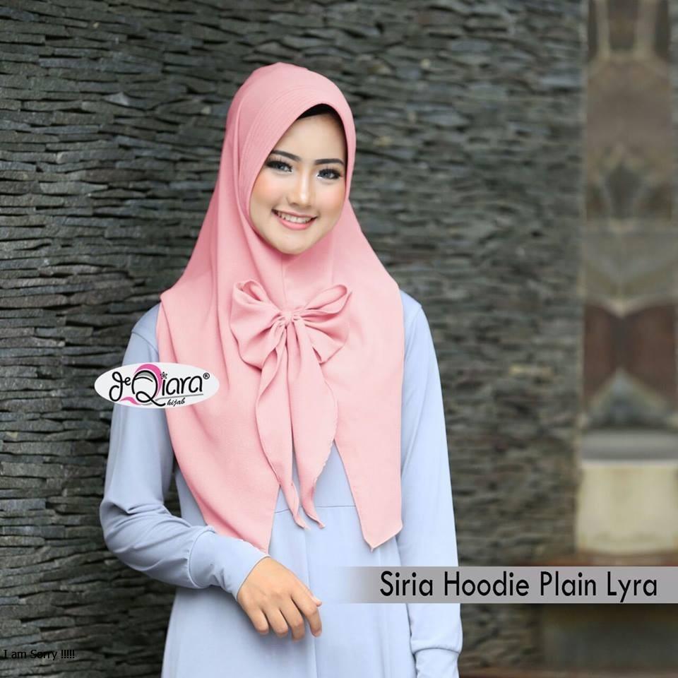 SIRIA HOODIE Plain *LYRA* By Deqiara Jilbab Instan Pasmina Instant