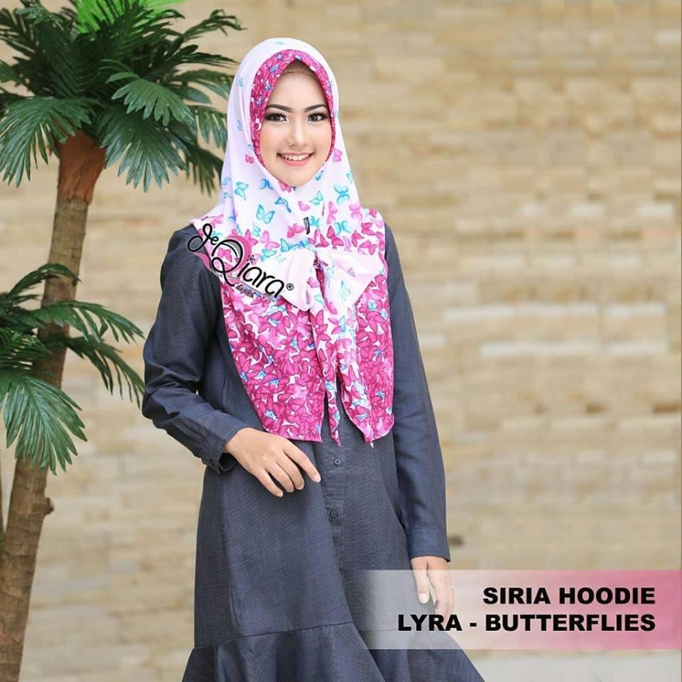 SIRIA HOODIE LYRA BUTTERFLIES By Flow Idea Jilbab Instan Best Seller Jilbab Instan Pasmina Instant